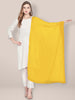 Lemon Yellow Chiffon Dupatta