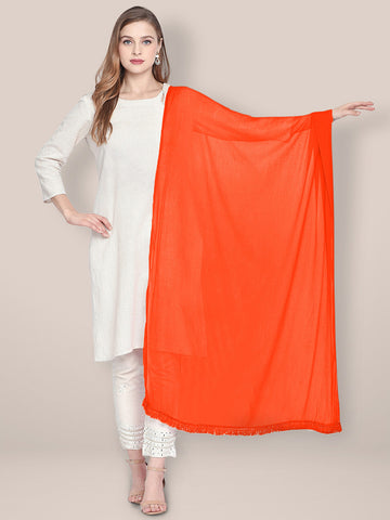 Dupatta Bazaar Woman's Orange Chiffon Dupatta