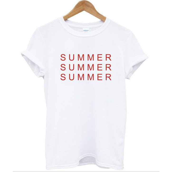 Summer Summer Summer White T-Shirt
