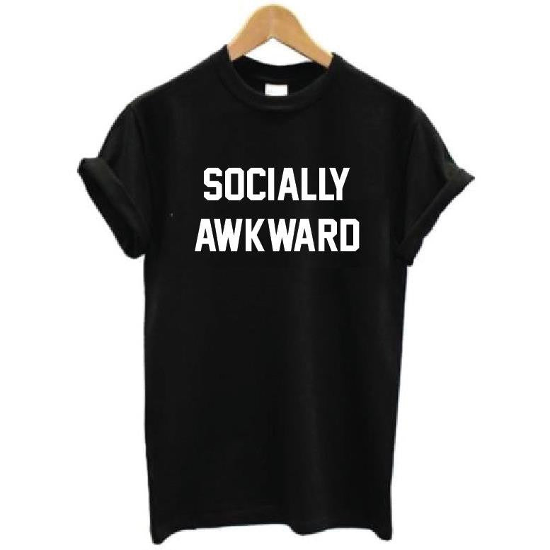 Socially Awkward Black T-Shirt
