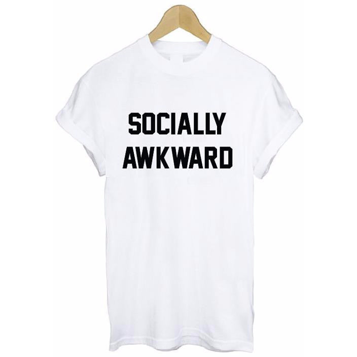 Socially Awkward White T-Shirt