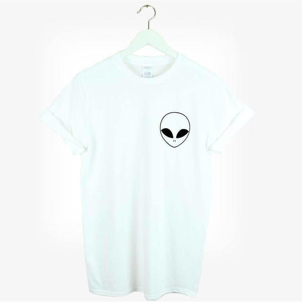 Shirts - Alien White T-Shirt