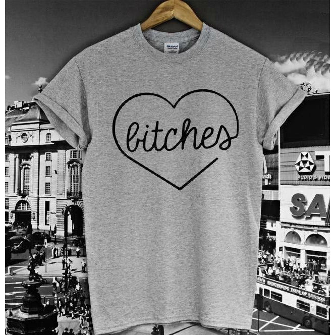 Shirts - Bitches Grey T-Shirt
