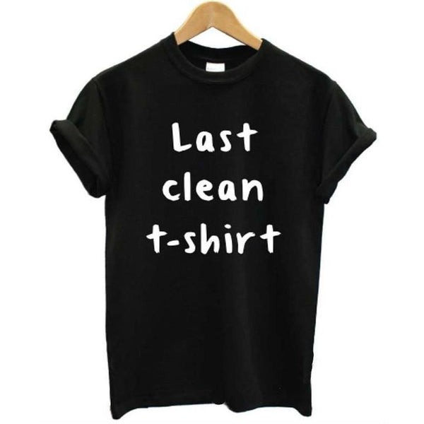 Shirts - Last Clean T-Shirt Black
