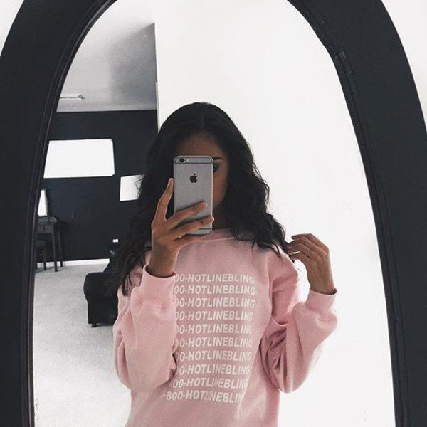 Sweater - 1-800-HOTLINE BLING Pink Sweater