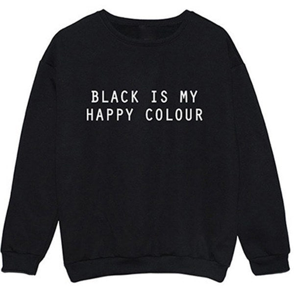 Sweater - Black Is My Happy Colour Black Sweater