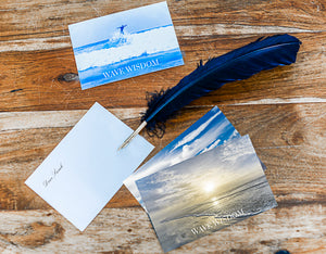 A Wave Wisdom Gift Postcard With Bespoke Message.