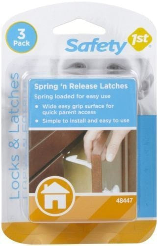Safety 1st Cabinet & Drawer Spring Locks - Pack of 3