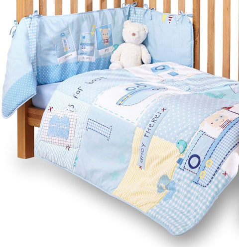 Ahoy Quilt And Bumper Set For Cots And Cot Beds