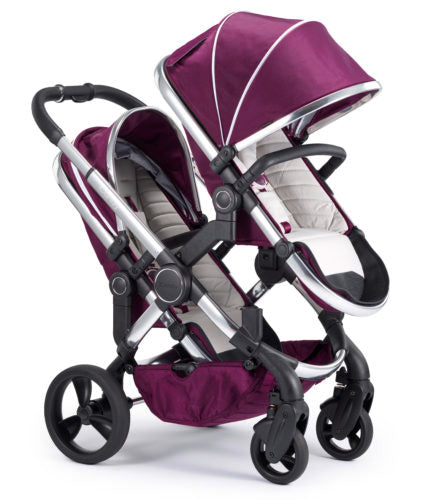 iCandy Peach Travel System Bundle Damson Blossom - Chrome Chassis
