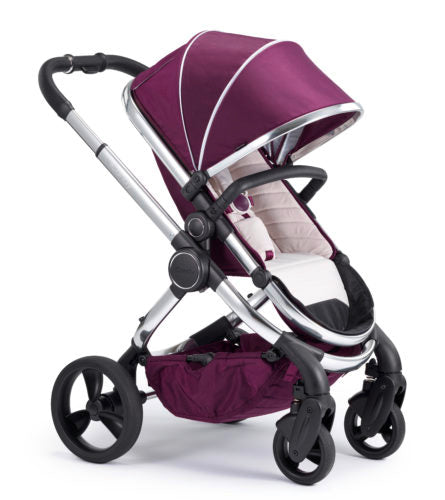 iCandy Peach Travel System Bundle Damson - Chrome Chassis