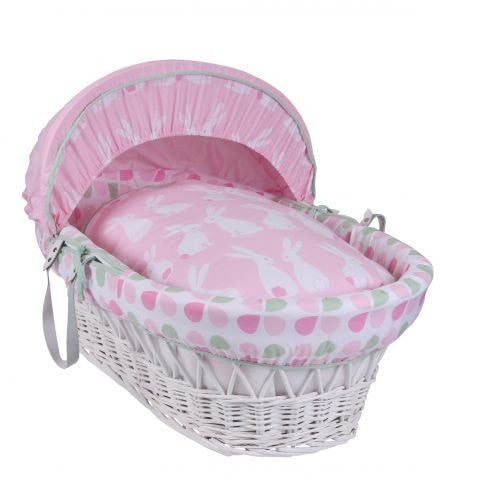 Clair De Lune - Rabbits White Wicker Basket