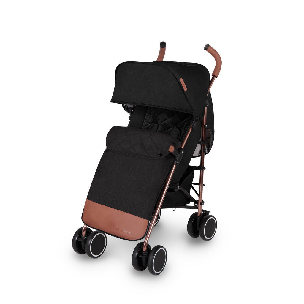 Ickle Bubba Discovery Stroller - Black on Rose Gold Frame