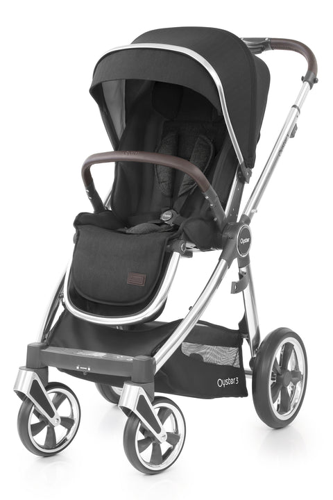 Babystyle Oyster 3 Pram Caviar - Mirror Chassis