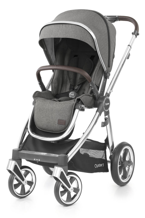 Babystyle Oyster 3 Pram Mercury - Mirror Chassis