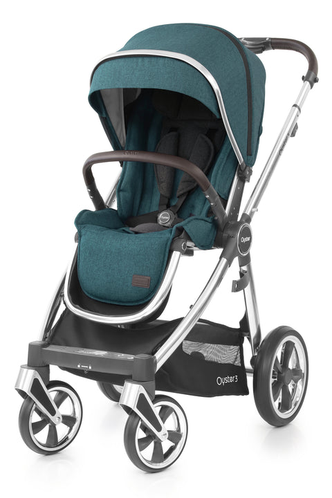 Babystyle Oyster 3 Pram Peacock - Mirror Chassis