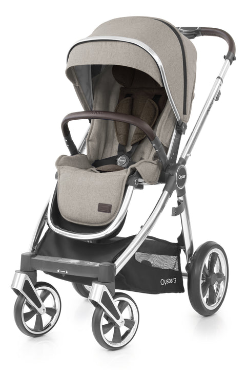 Babystyle Oyster 3 Pram Pebble - Mirror Chassis