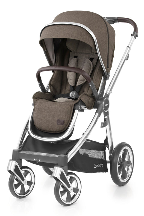 Babystyle Oyster 3 Pram Truffle  - Mirror Chassis