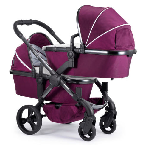 iCandy Peach Travel System Bundle Damson Twin - Phantom Chassis