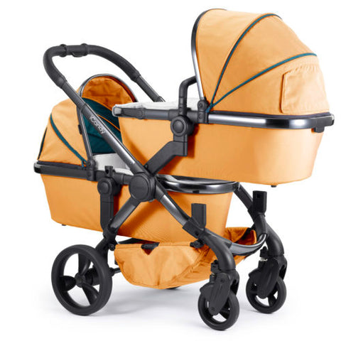 iCandy Peach Travel System Bundle Twin Nectar - Phantom Chassis  With Maxi Cosi Pebble Plus