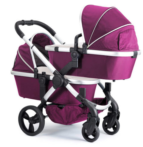 iCandy Peach Travel System Bundle Damson Twin -Satin Chassis