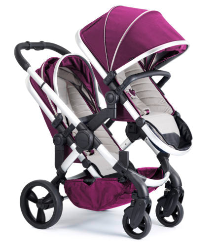 iCandy Peach Travel System Bundle Damson Blossom - Satin Chassis