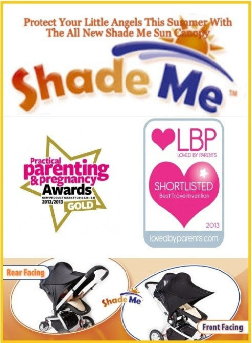 Shade Me Baby - Universal Sun Shade For  Pram / Removable Car Seat  / Carry Cot