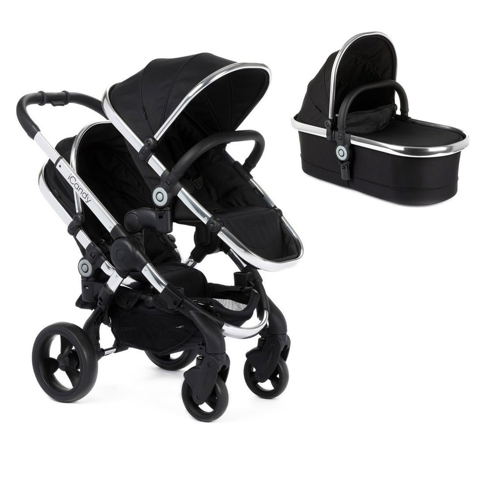 iCandy Peach blossom Stroller with Carrycot - Black Magic 2