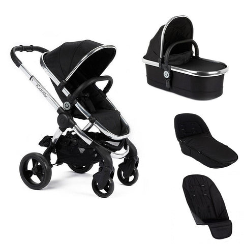 Icandy Peach black magic 2 stroller with carrycot  and accessories bundle