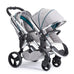 iCandy Peach Twin Dove Grey - Chrome Chassis