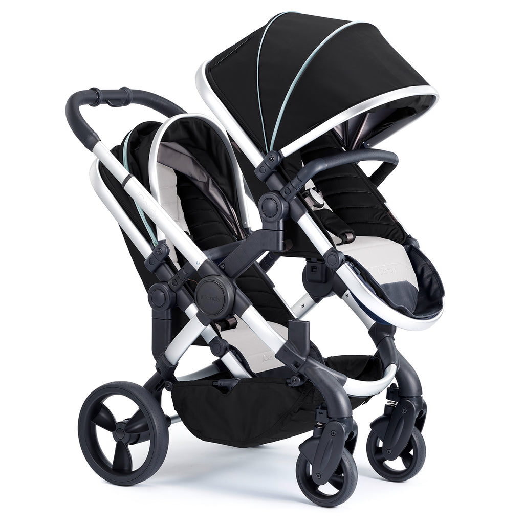 iCandy Peach Travel System Bundle Beluga Blossom - Satin Chassis