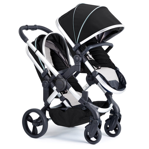 iCandy Peach Travel System Bundle Beluga Blossom - Chrome Chassis