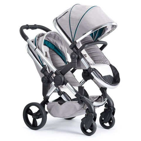 iCandy Peach Travel System Bundle Blossom Dove Grey - Chrome Chassis