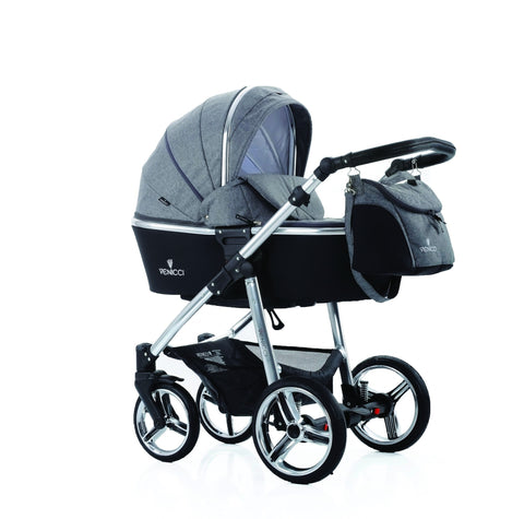 Venicci Special Edition Silver Frame - Denim Grey - without Car Seat