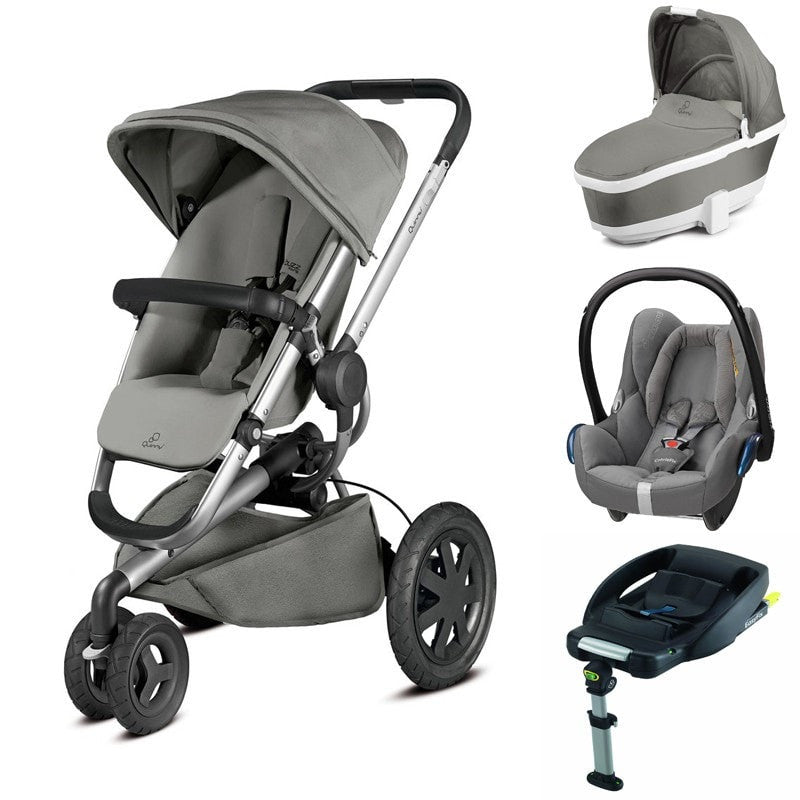 Buzz Xtra 3 in 1 Travel System Package - Grey Gravel