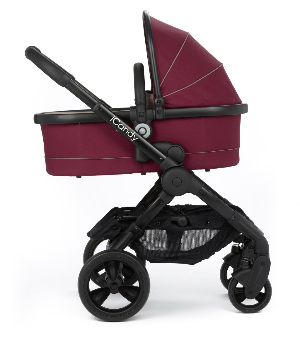 iCandy Peach Stroller with Carrycot - Claret