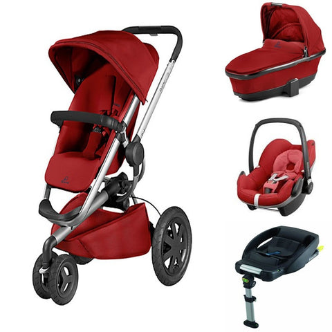 Buzz Xtra 3 in 1 Travel System (Red Rumour)