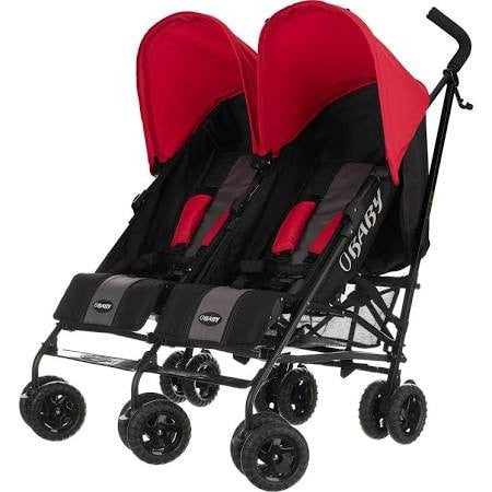 Obaby Apollo Twin Stroller Red