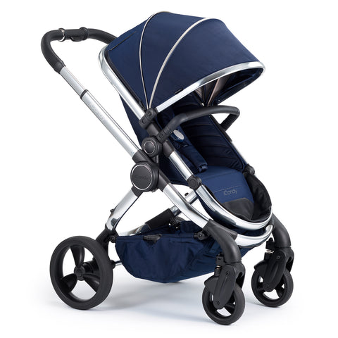 iCandy Peach Travel System Bundle Indigo - Chrome Chassis
