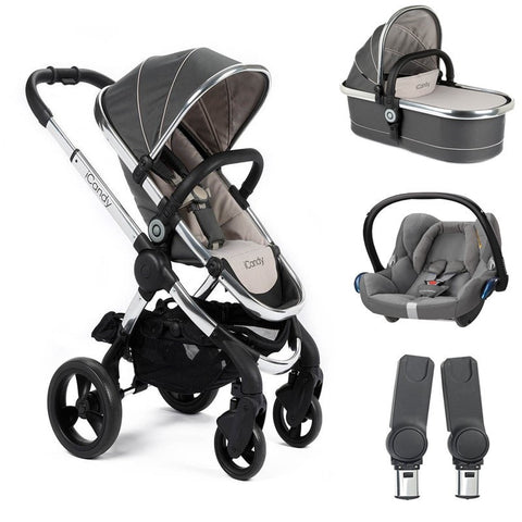 Icandy Peach - truffle 2 with Carrycot - cabriofix and car seat adapters