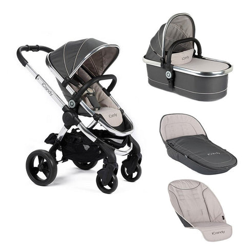 Icandy Peach Truffle 2 stroller with carrycot  and accessories bundle