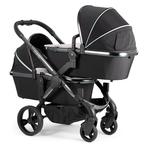 iCandy Peach Travel System Bundle Beluga Twin - Phantom Chassis