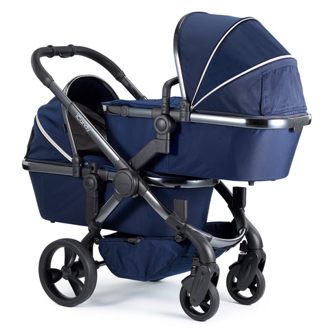 iCandy Peach Travel System Bundle Indigo Twin - Phantom Chassis