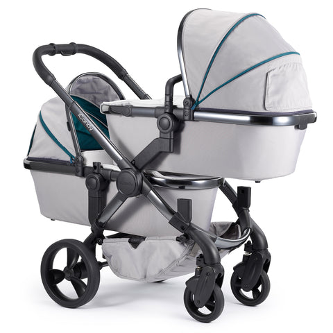 iCandy Peach Travel System Bundle Twin Dove Grey - Phantom Chassis