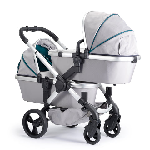 iCandy Peach Travel System Bundle Twin Dove Grey - Satin Chassis
