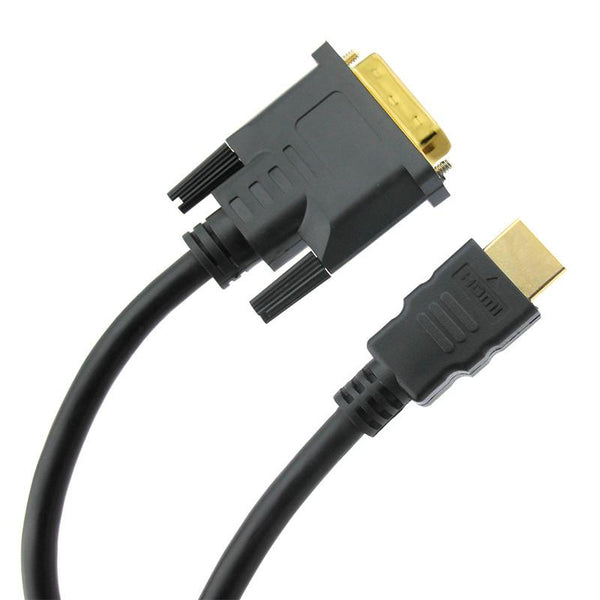 DVI to HDMI Cable For Computer PC Laptop to TV TFT LCD Monitor DVD