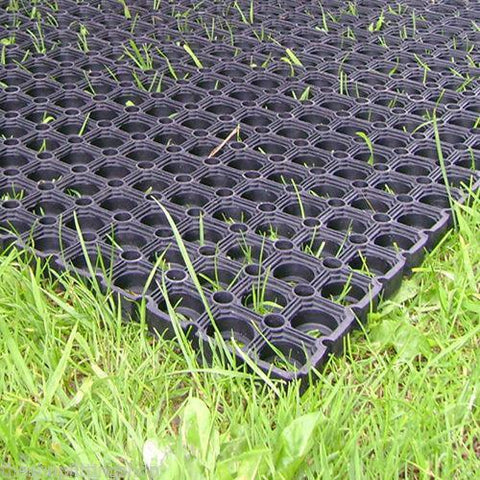 Heavy Duty Rubber Grass Mat 1m x 1m Childrens Playground Garden Floor Matting