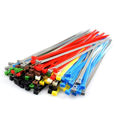 Coloured Nylon Heavy Duty Releasable Reusable Cable Ties, zip Ties