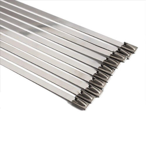 Stainless Steel Metal Cable Ties - ZIP WRAP EXHAUST HEAT STRAPS INDUCTION PIPE