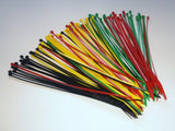 Colored Cable Ties Red, Blue, Green, Yellow, Brown, Silver / Tie Wraps Zip Ties Normal Sizes